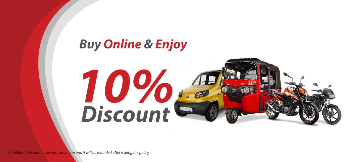 Buy Online Insurance & Enjoy 10% Discount for Your Vehicle